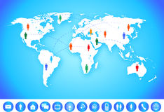 World Map Communication Royalty Free Stock Photography