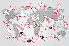 World map communication concept Stock Image