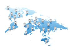 World map communications concept Stock Photography