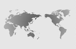 World map and compass of ,  illustration.  Stock Photos