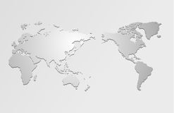 World map and compass of  Stock Photography