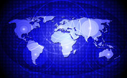 World map-concept of world network communication. Stock Photography