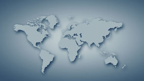 World map. Conceptual image with world map on concrete wall stock photos