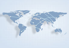 World map. Conceptual image with world map. Globalization and interaction Stock Photos