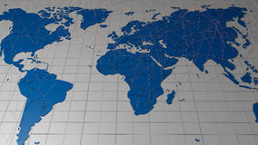 World map connect Royalty Free Stock Photo