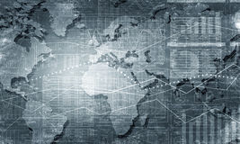 World map connection Stock Images