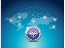 World map connection network illustration design Stock Image