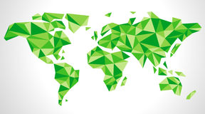 World map consisting of triangles Royalty Free Stock Photos