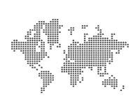 The world map consists of icon photo camera. Concept for photographer. Flat  illustration EPS 10 Royalty Free Stock Photos