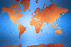 World Map Continents Background Royalty Free Stock Image