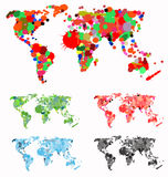 World map created with splats Royalty Free Stock Photos