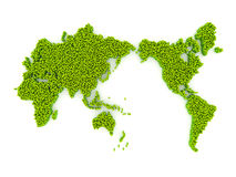 World map from cubes Royalty Free Stock Photography