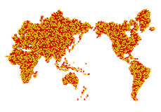 World map from cubes Stock Photo