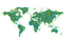 World map from cubes Stock Photography