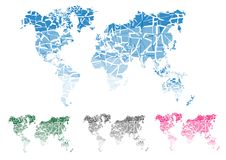 World map.  cut continents. Vector illustration. World map.  cut continents. Vector Stock Photography