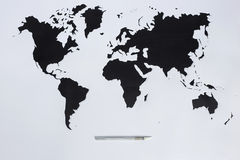 World map. Cut out paper Royalty Free Stock Photography