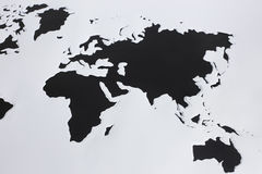 World map. Cut out paper Royalty Free Stock Image