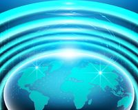 World map cyber internet line network connection business zone royalty free illustration