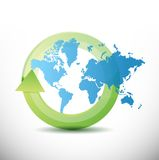 World map cycle illustration design Royalty Free Stock Image