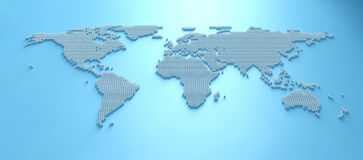 World Map 3D Royalty Free Stock Image