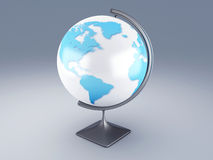 World map, 3D globe Stock Photo