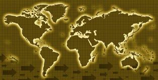 World map 3D illustration, 3D rendering stock illustration