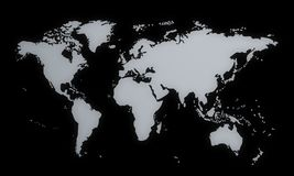 World map, 3d Royalty Free Stock Photography