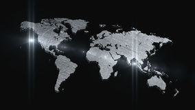 World map 3D render Stock Photo