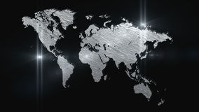 World map 3D render Royalty Free Stock Photography