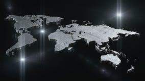World map 3D render Royalty Free Stock Photos