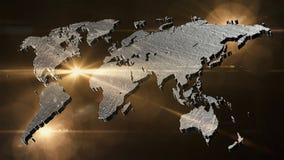 World map 3D render Stock Photo