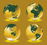 World map 3d vector Stock Images