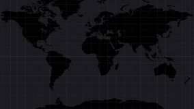 World map with danger signs around the world. Symbols launch weapons or military action. stock video footage