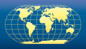 World Map dark blue background Stock Images