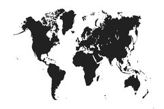 The world map. Royalty Free Stock Photos