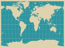 World Map In Detail Stock Photo