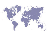 World map. Detailed illustration of world map in 2d, white background Stock Photography