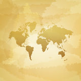 World map on dirty background vector illustration Royalty Free Stock Images