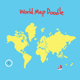 World map doodle Stock Photography