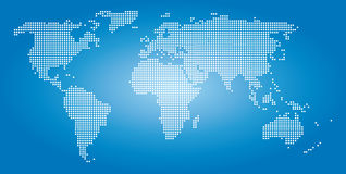 World map dots Stock Photography