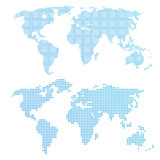 World map in dots. Stock Photos