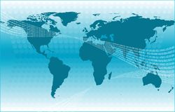World map and dots code Stock Images