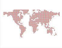 World Map in Dots (Vector) Royalty Free Stock Photo