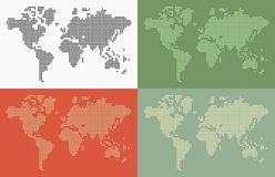 World map dots Stock Photos