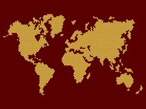 World Map Dotted on Dark Background. Vector Stock Photos