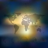 World map with dotted globes, abstract blurred. World map with dotted globes. Abstract blurred background, abstract template vector Royalty Free Stock Image