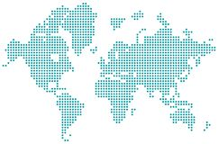 World map dotted isolated vector