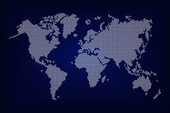 World map ( dotted style ) Stock Images