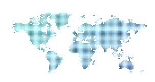 World map dotted style, vector illustration isolated on white background