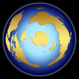 World Map from downunder Stock Images